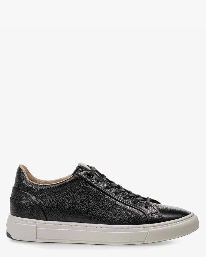 Sneaker geprint leer zwart