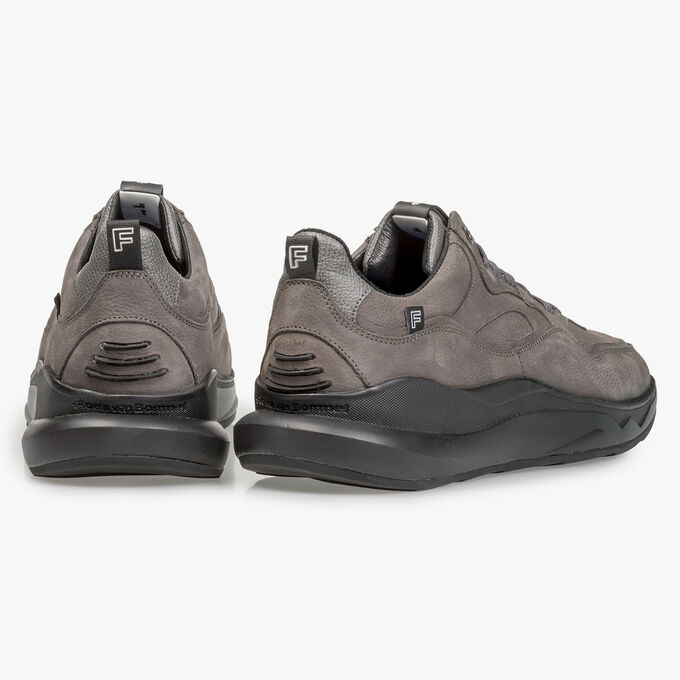Dark grey nubuck leather sneaker