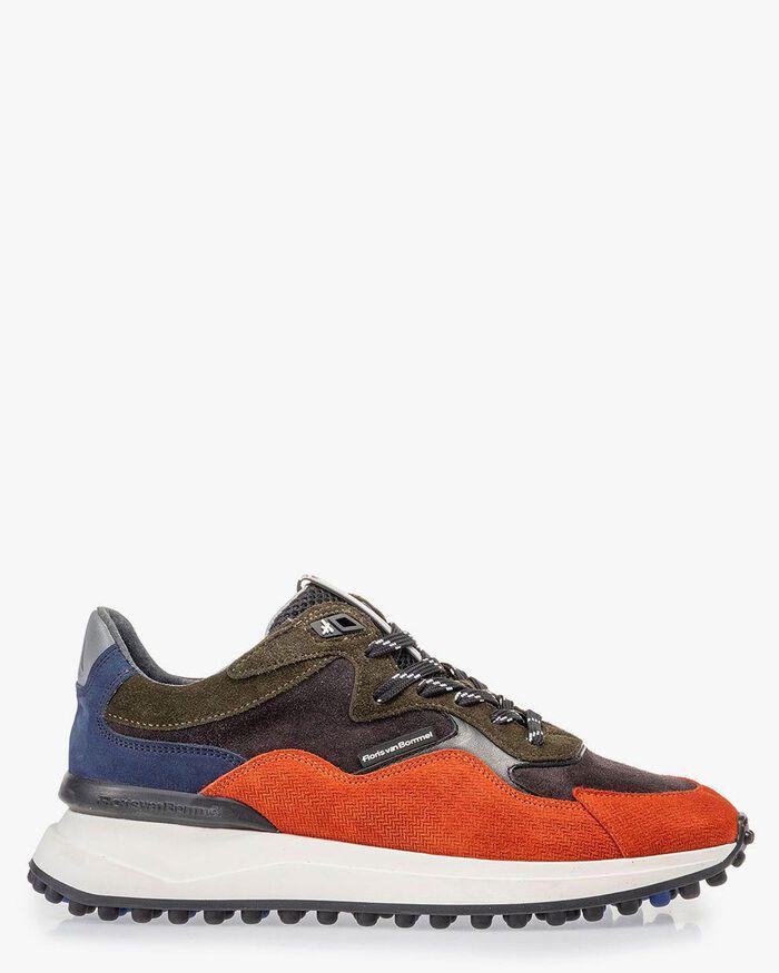 Noppi sneaker donkerblauw/oranje