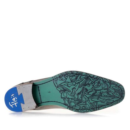 Laser-printed leathr lace shoe