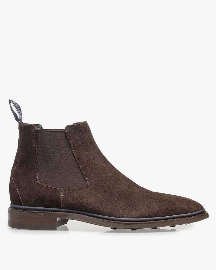 Chelsea boot suède bruin