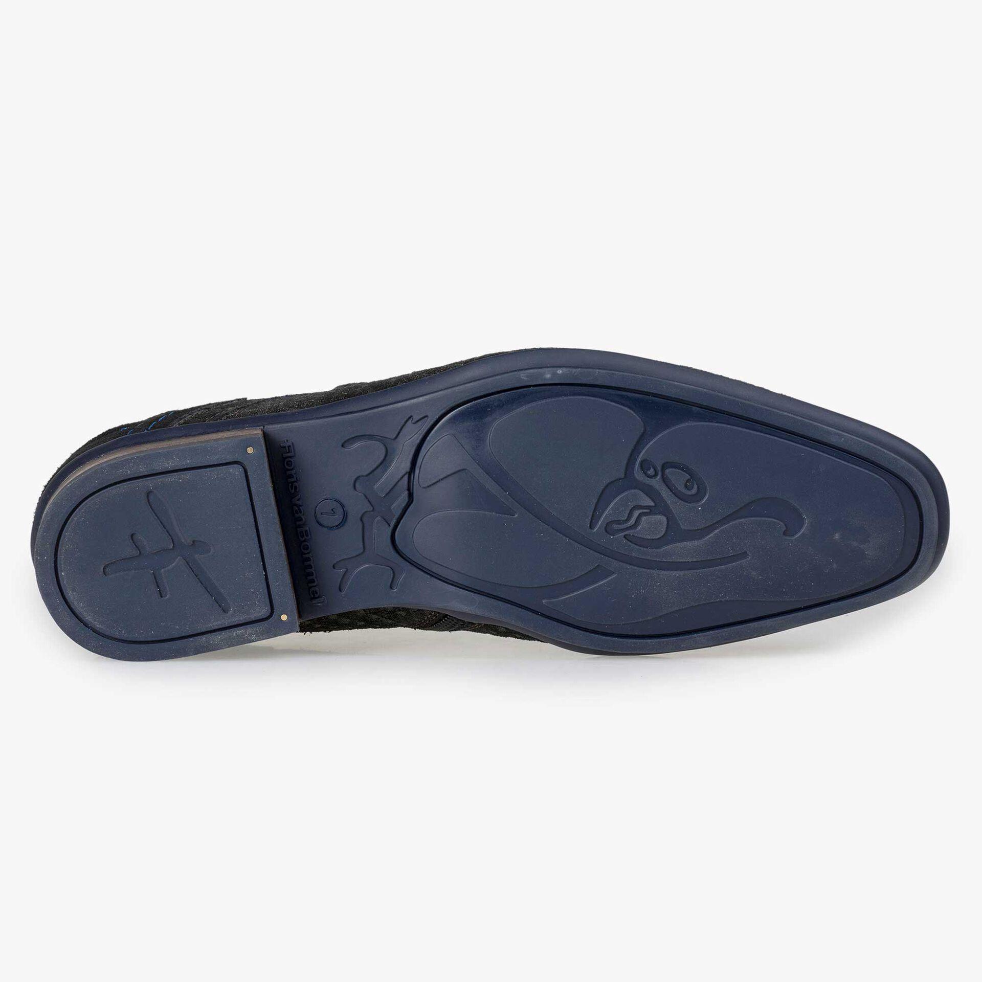 Floris van Bommel grey buckled shoe