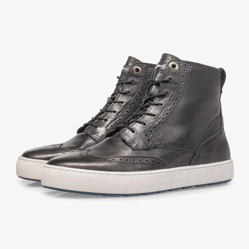 Halfhoge leren sneaker