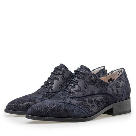 Floris van Bommel women's suede leather lace shoe