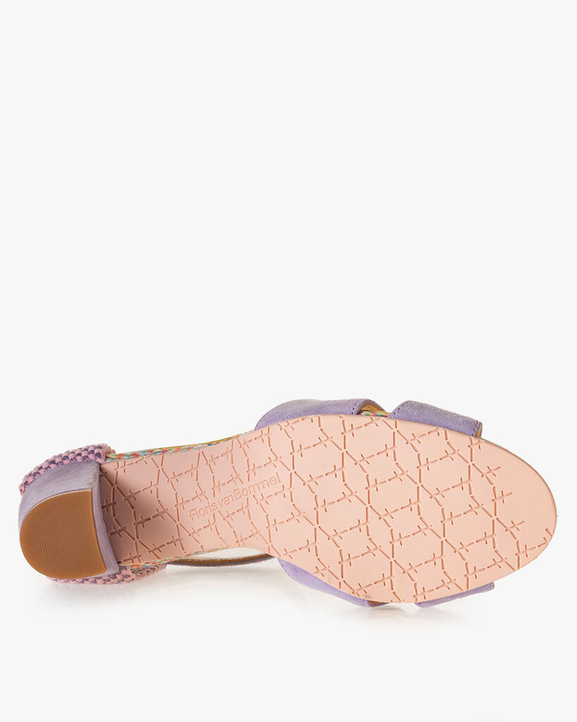 Sandaal suède lila