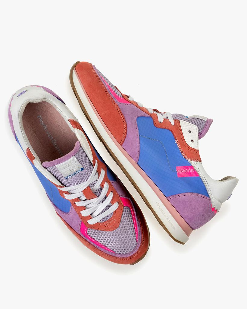 Sneaker nubuckleer multi-colour