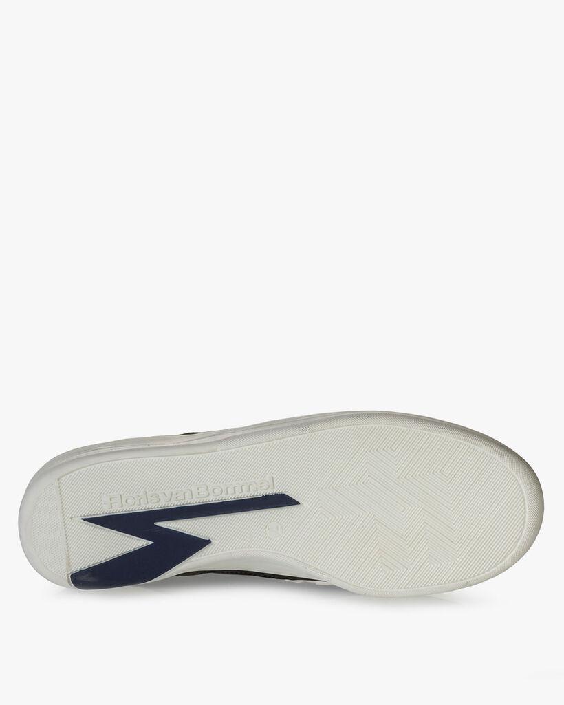 Sneaker nubuckleer donkergroen