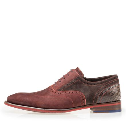 Floris van Bommel men's nubuck brogue lace shoe