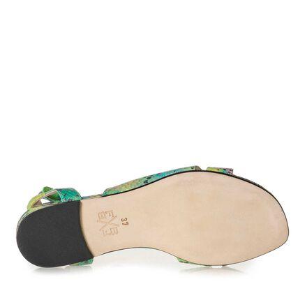 Leren sandaal met gesp