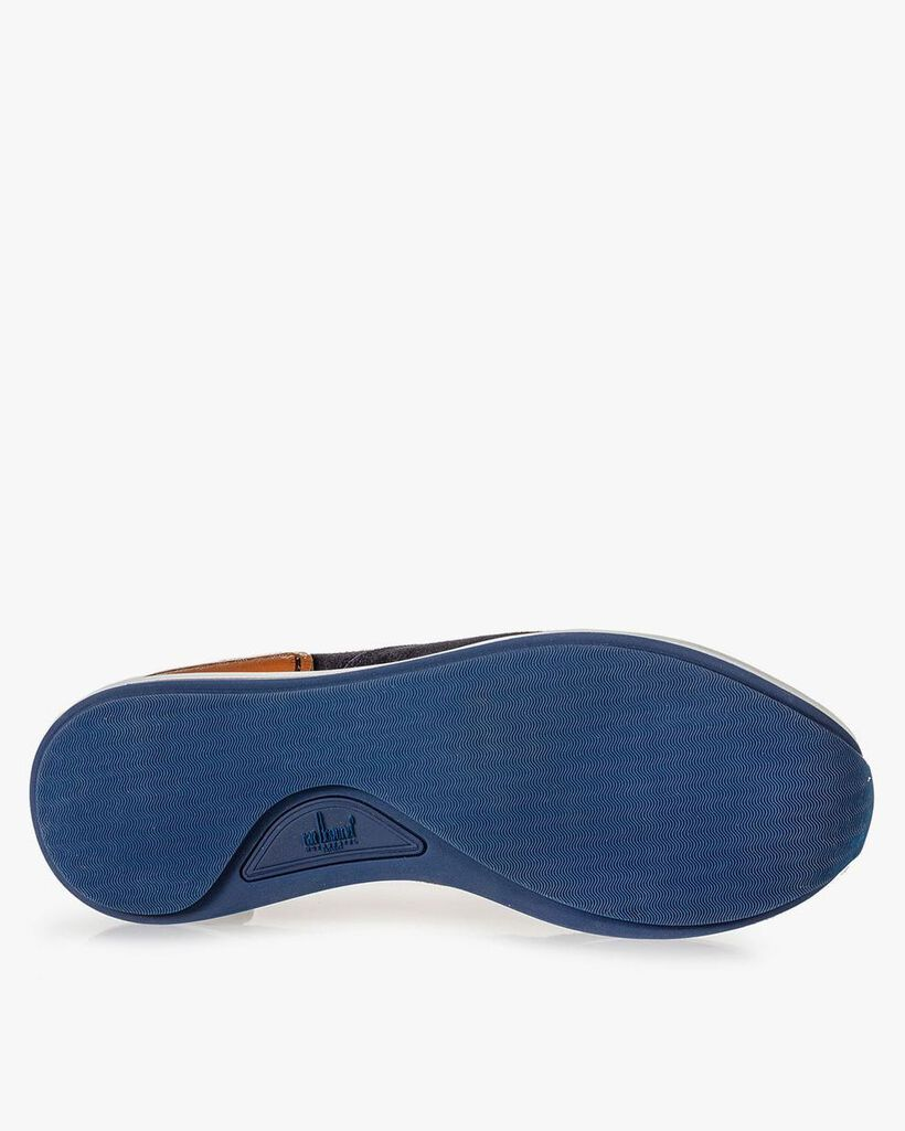 Sneaker dark blue suede leather