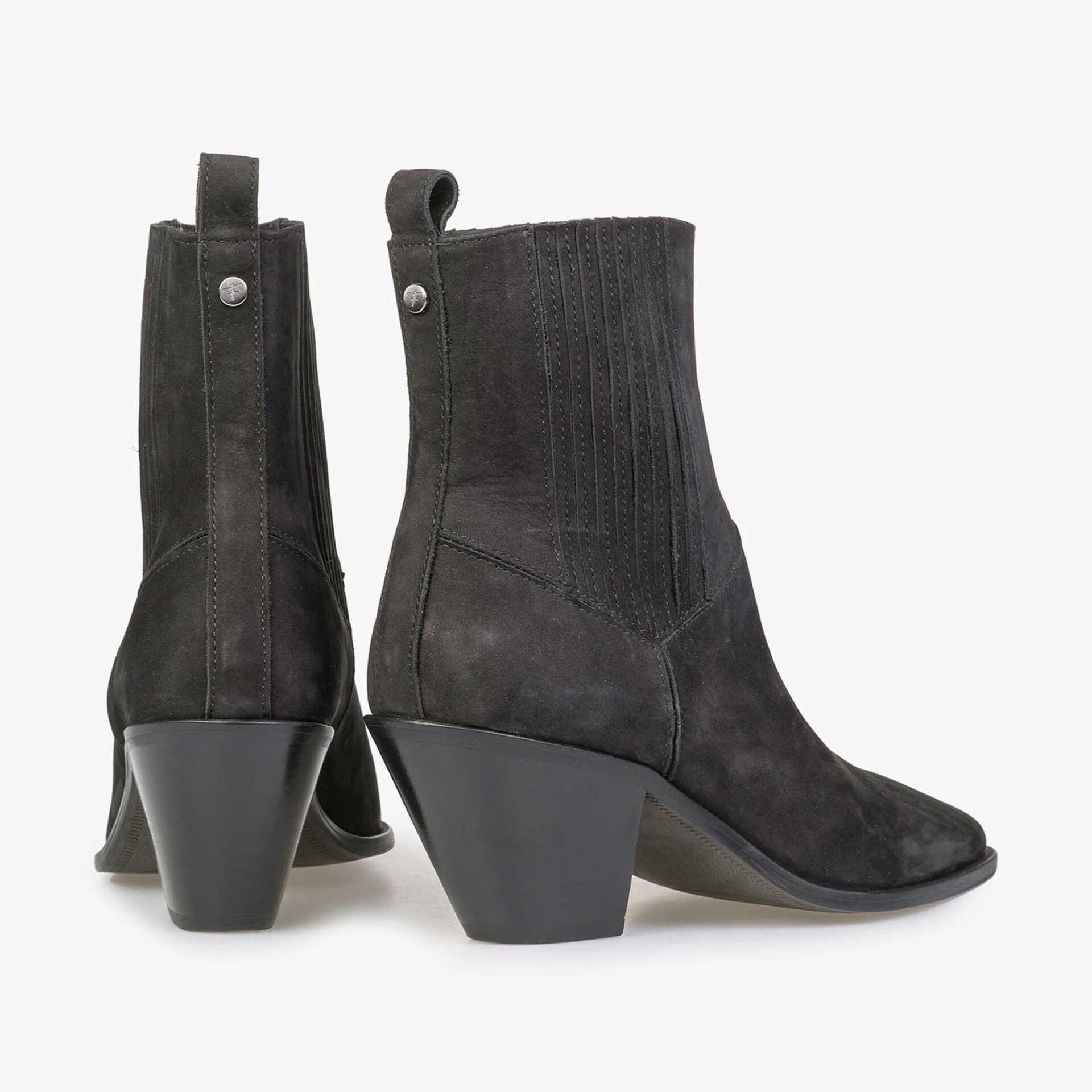 Black nubuck leather Chelsea boot