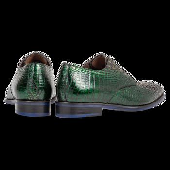 Veterschoen groen crocoleer