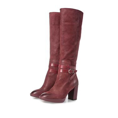 High nubuck leather boot