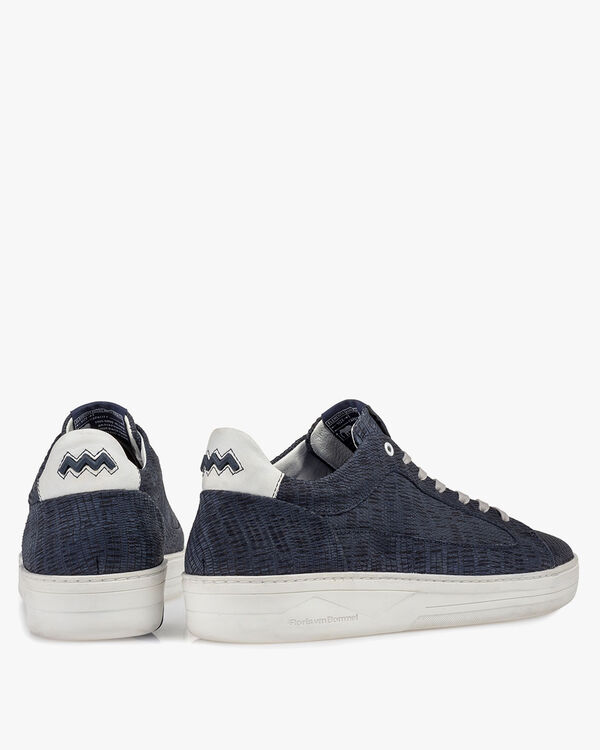 Sneaker met print donkerblauw