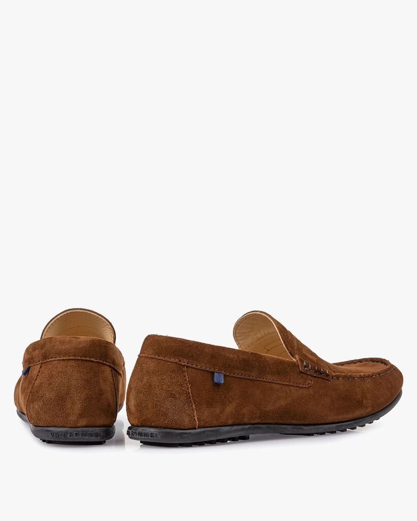 Moccasin suede leather brown