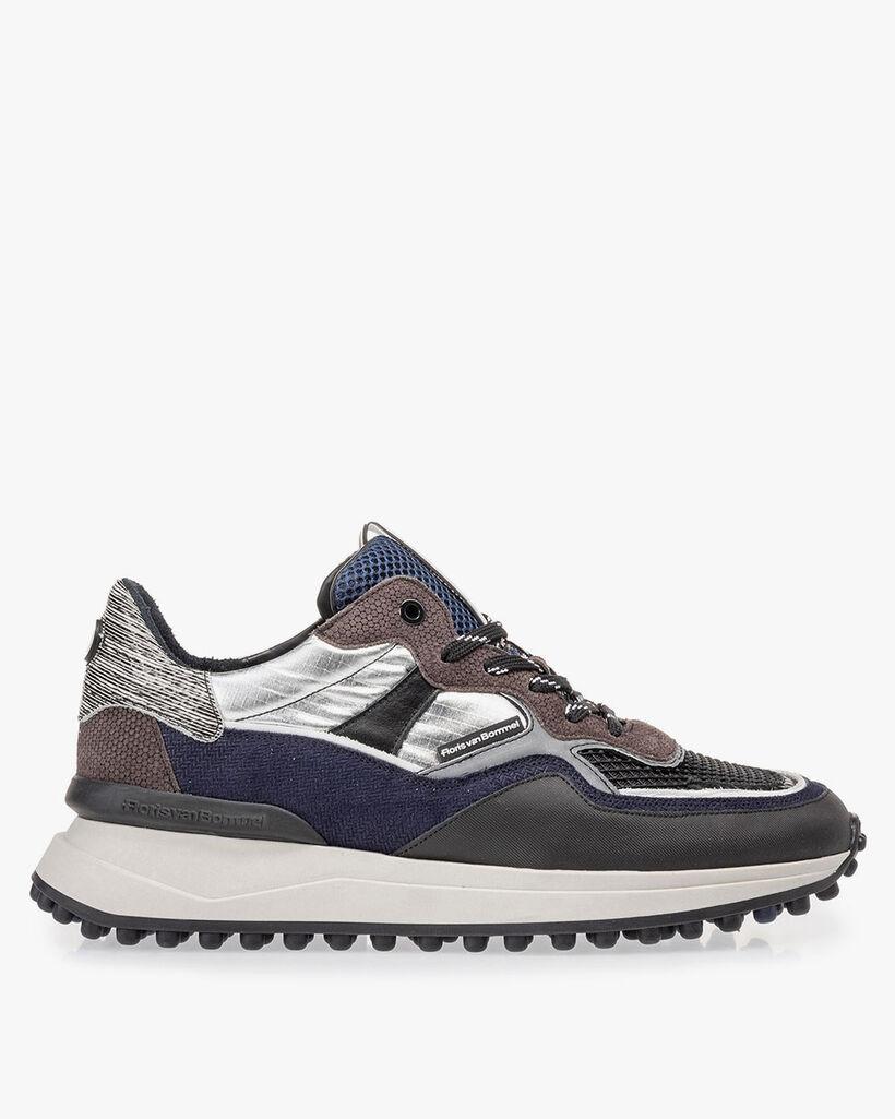 Noppi sneaker donkergrijs/blauw