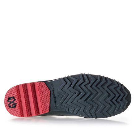 Sneaker met sportieve zool met zig-zag print