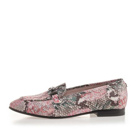 Leather loafer with print