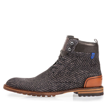 Leather high lace boot