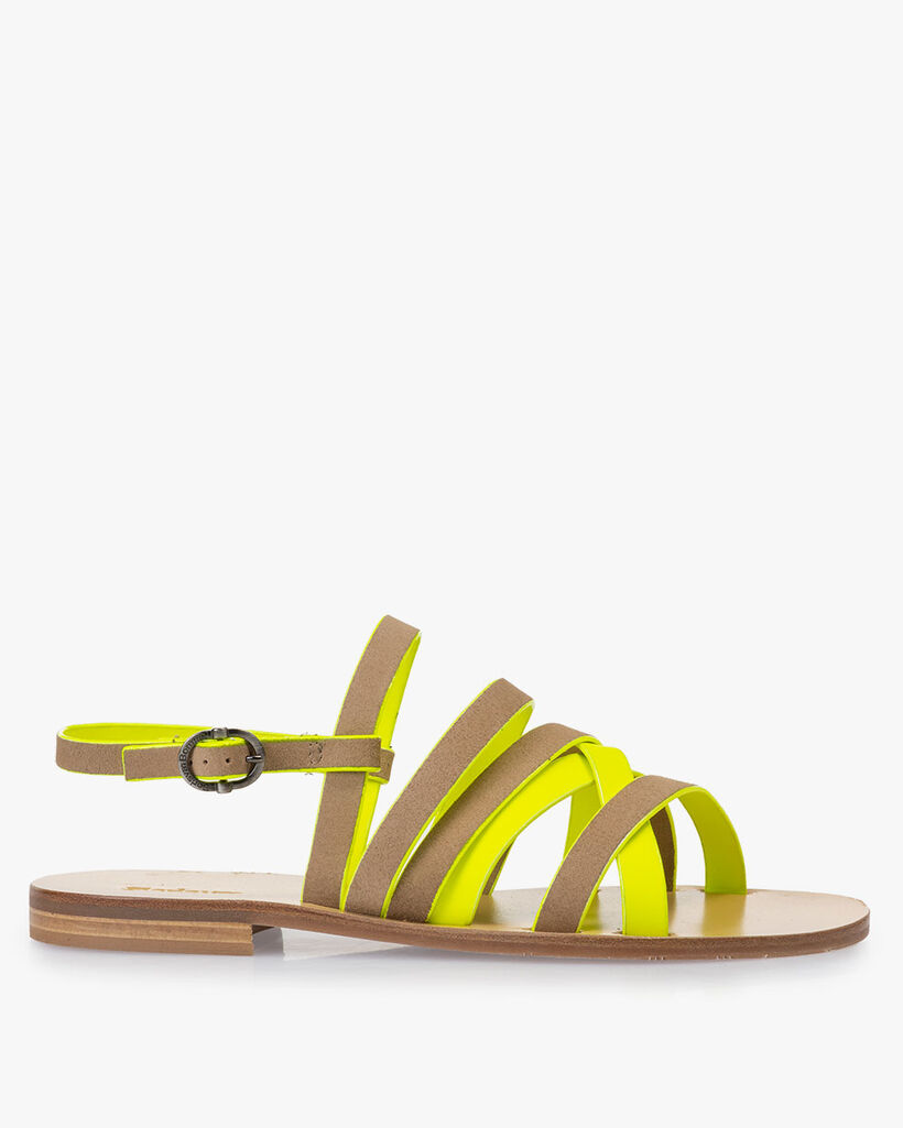 Sandaal suède beige