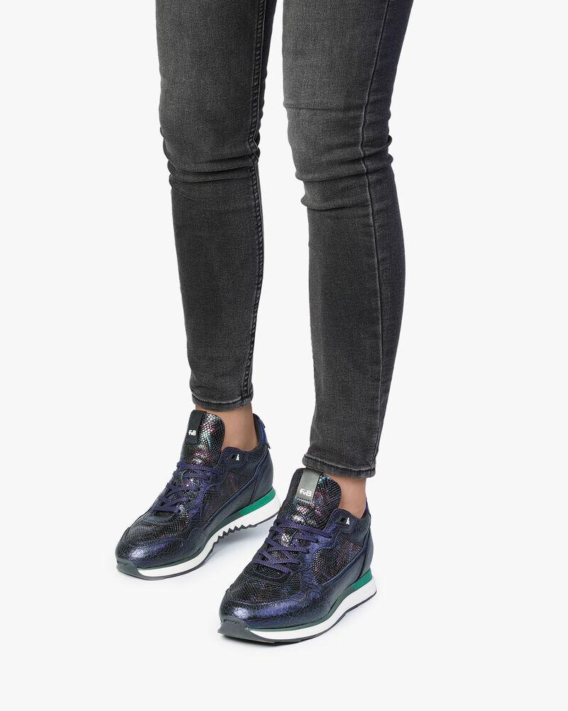 Sneaker donkerblauw leer