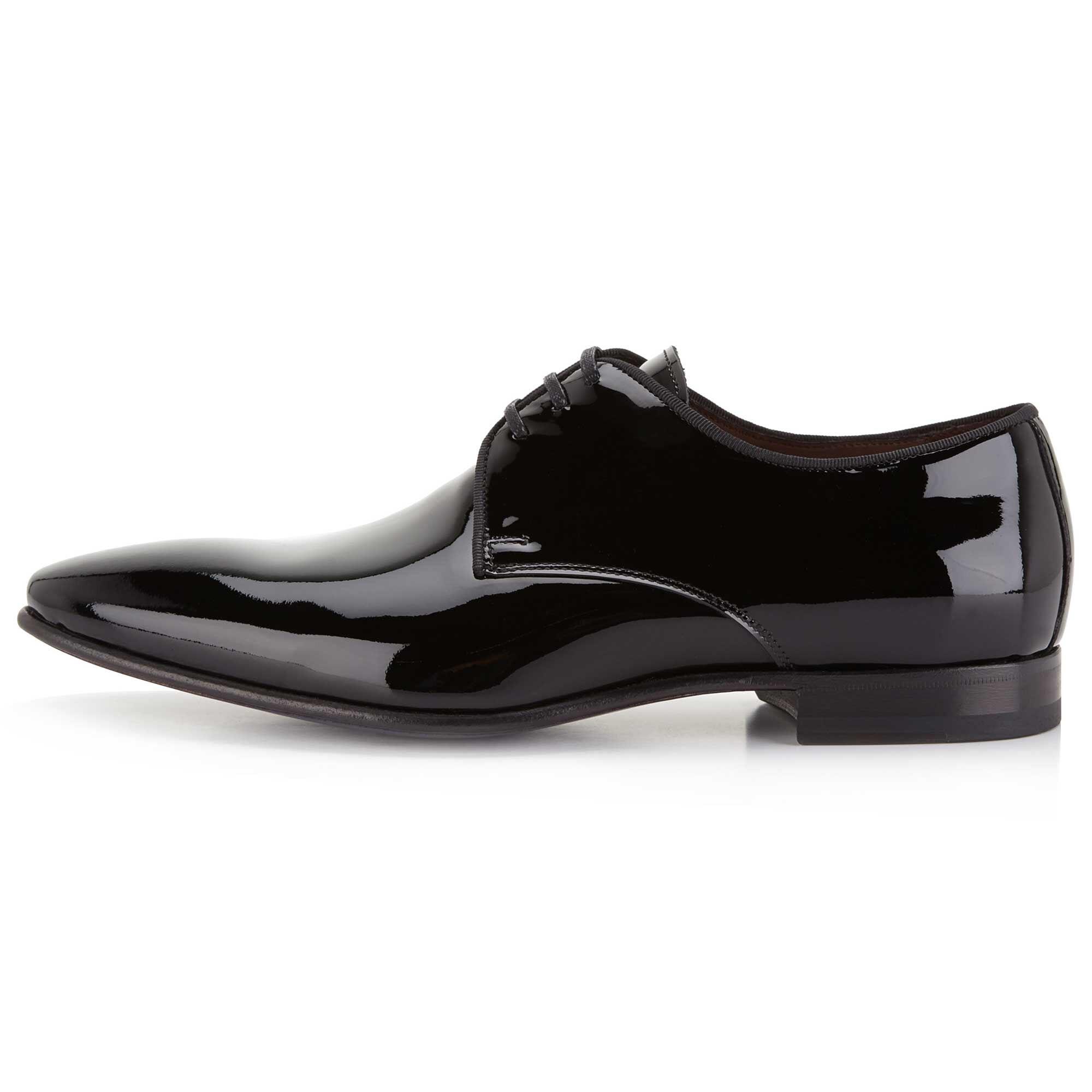 Cuir Verni Bleu Foncé Chaussures À Lacets (40,41,42,43,44,45,46)