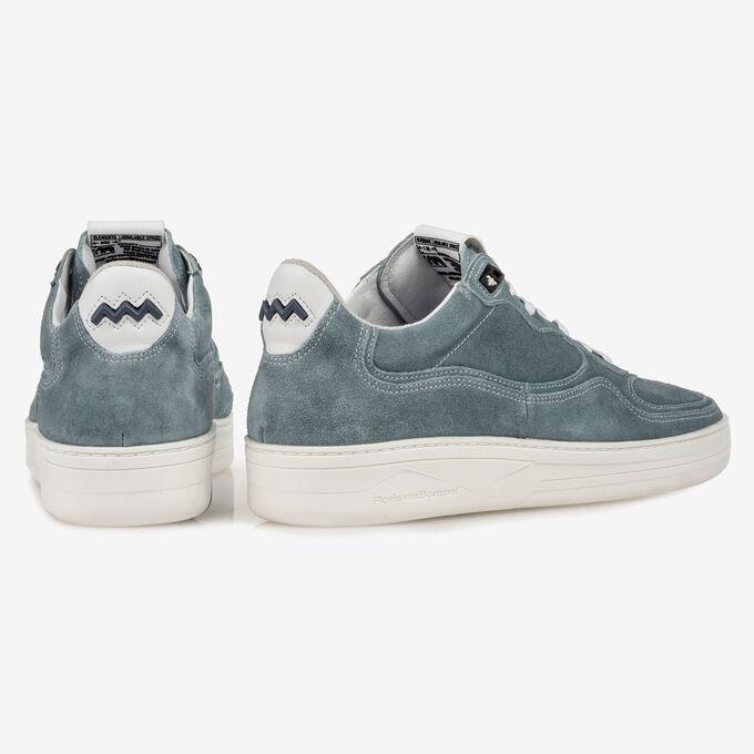 Sneaker suède turquoise