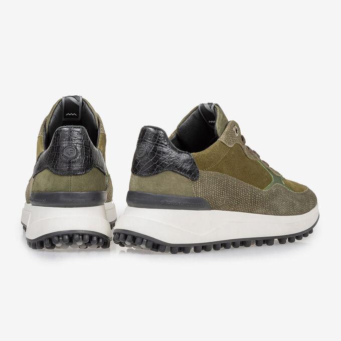 Noppi sneaker suède groen