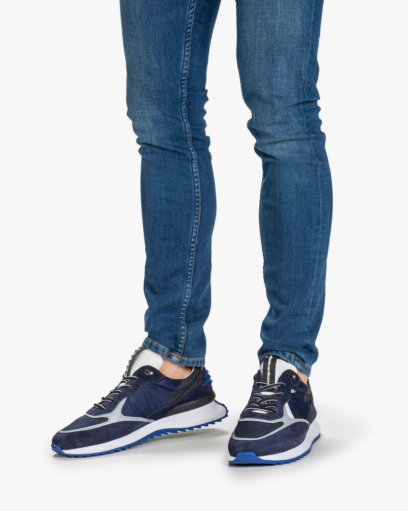 Sneaker suède blauw