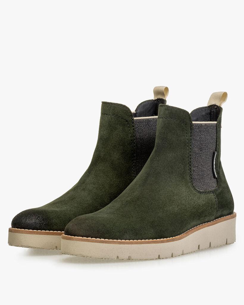 Chelsea boot suède groen