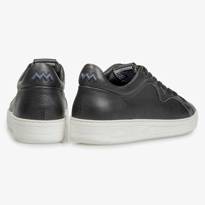 Zwarte kalfsleren sneaker