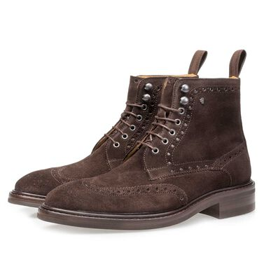 Brogue leren veterboot