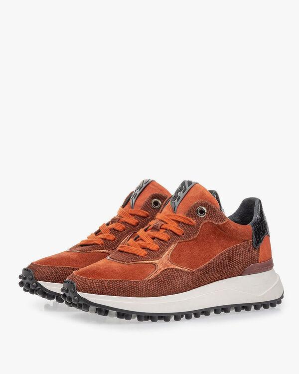 Noppi sneaker suède bruin