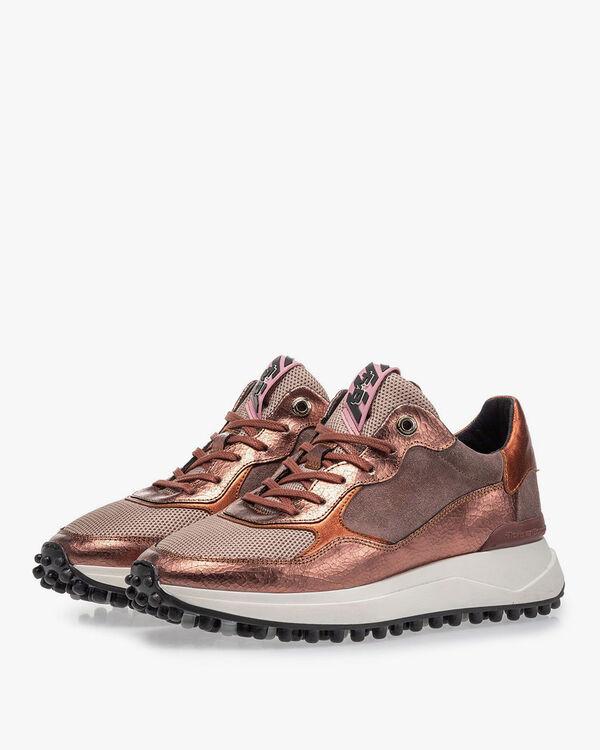 Noppi sneaker roze leer