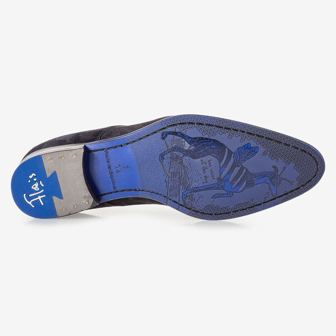 Veterboot blauw met print