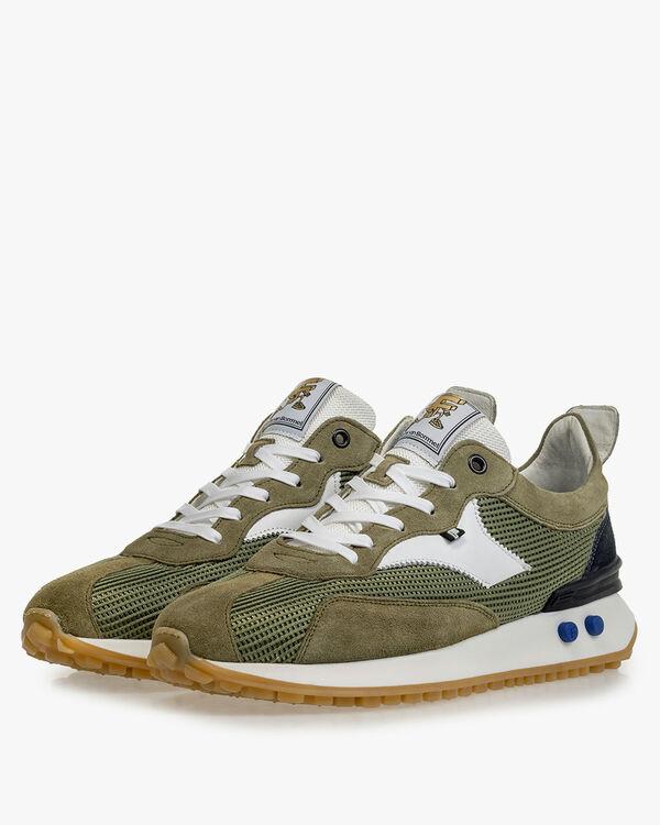 Sneaker textiel groen