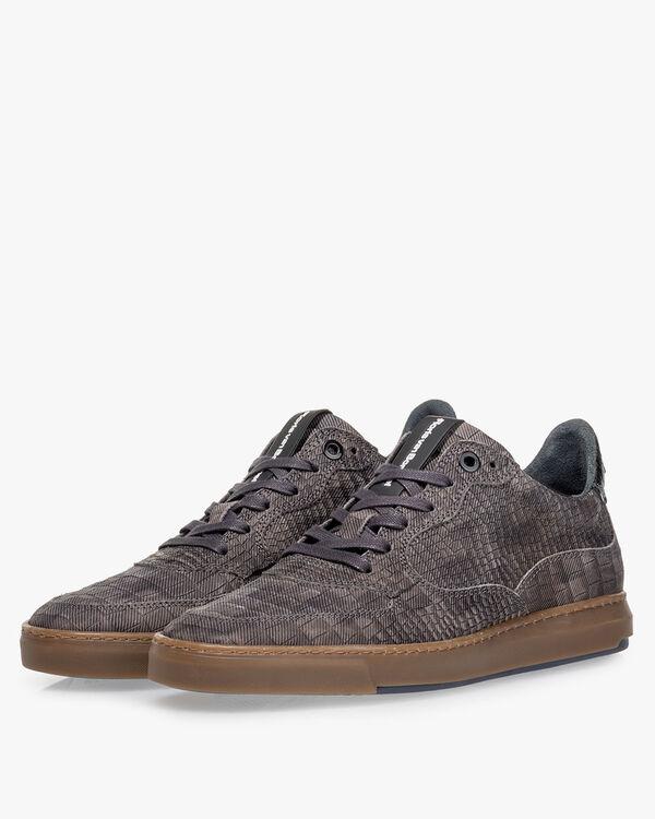 Sneaker reptielenprint taupe