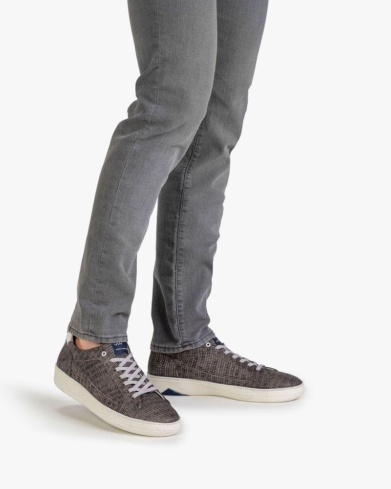 Sneaker met print taupe