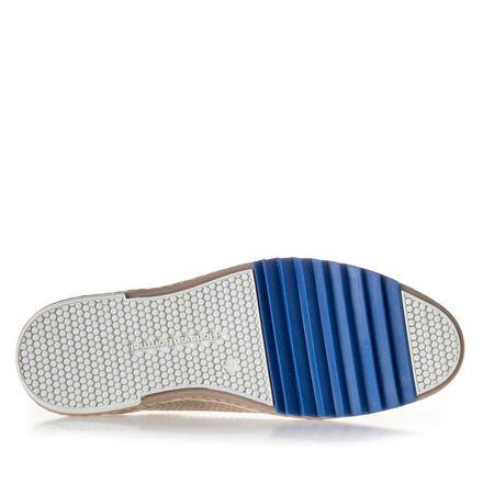 Leren sneaker met blauw zigzagelement