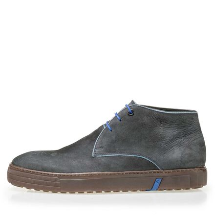 Floris van Bommel nubuck leather lace boot