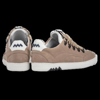 Hiking sneaker nubuck leather beige