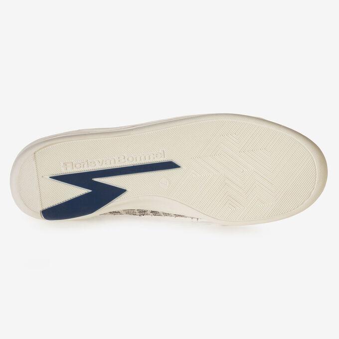 Sneaker nubuckleer zwart/wit