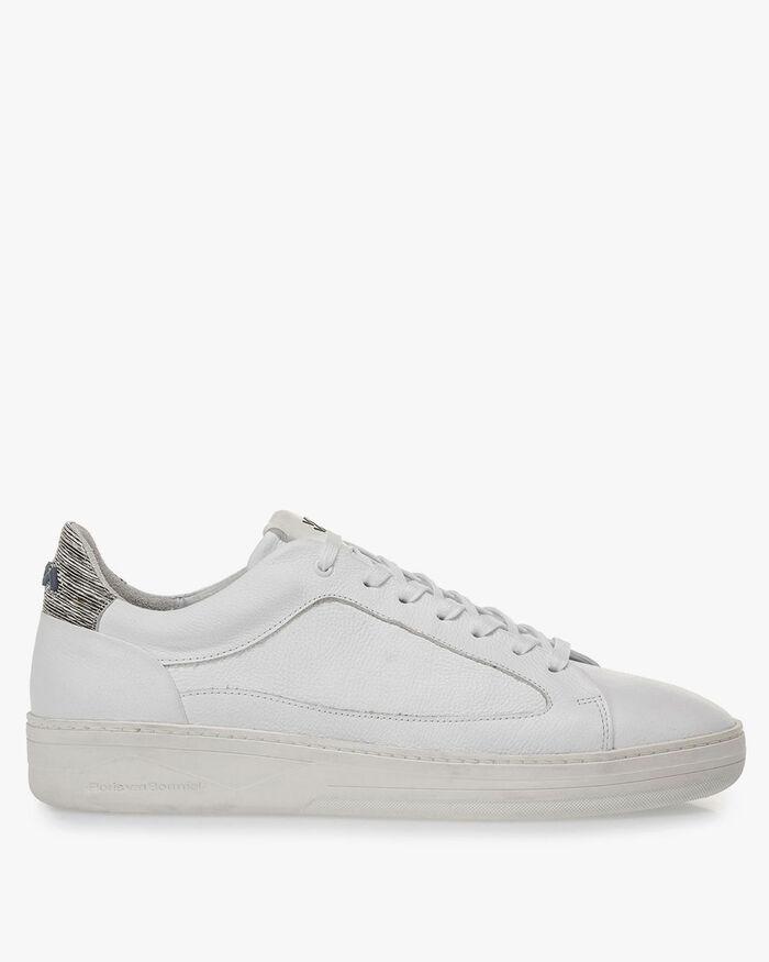 Witte kalfsleren sneaker