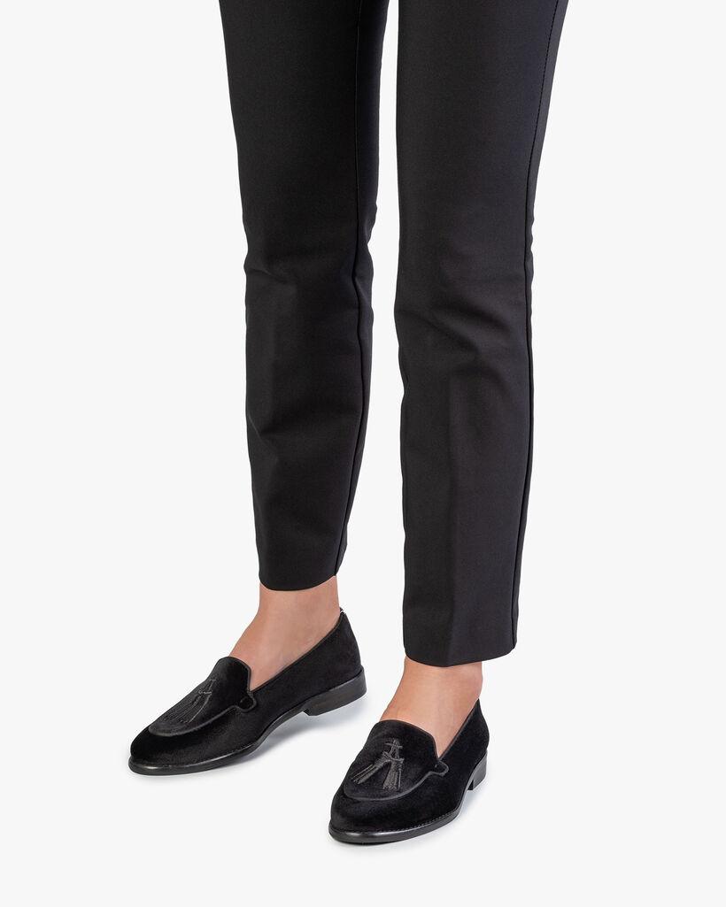 Loafer zwart textiel