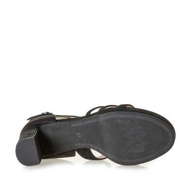 Leren sandaal met hak
