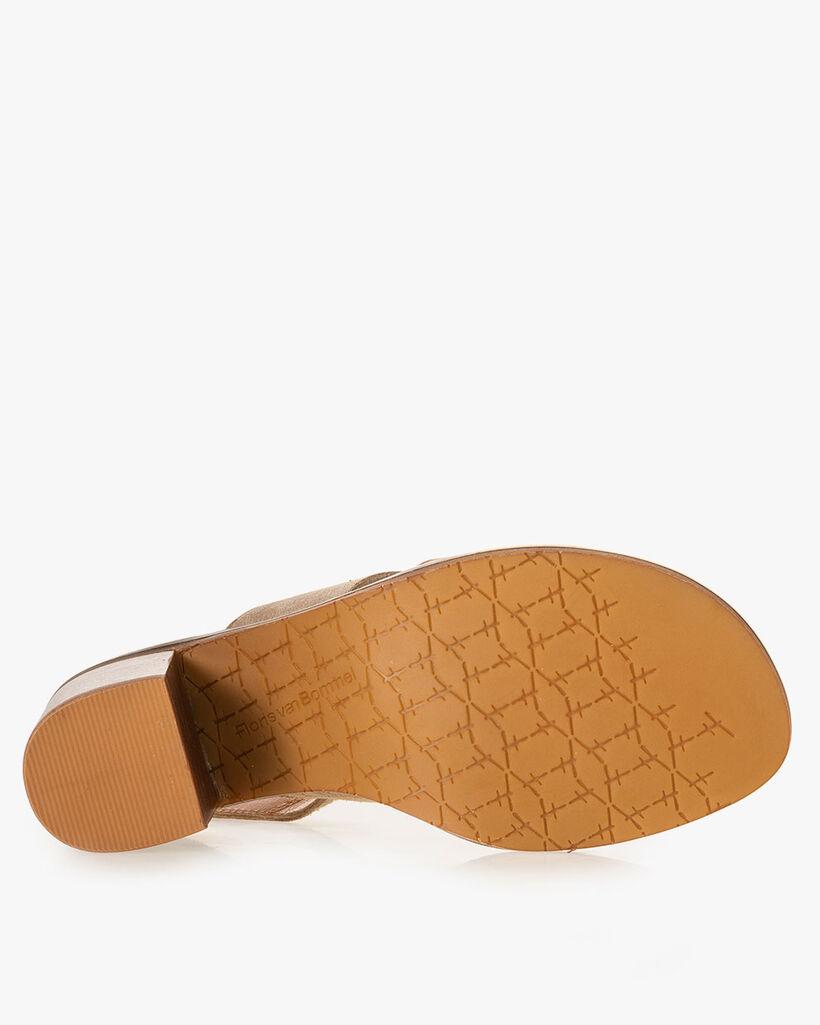 Sandaal suède zand