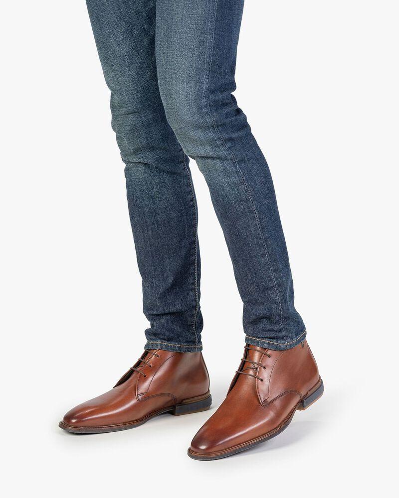 Boot calf leather cognac