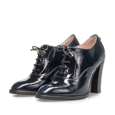 Women's patent leather derby
