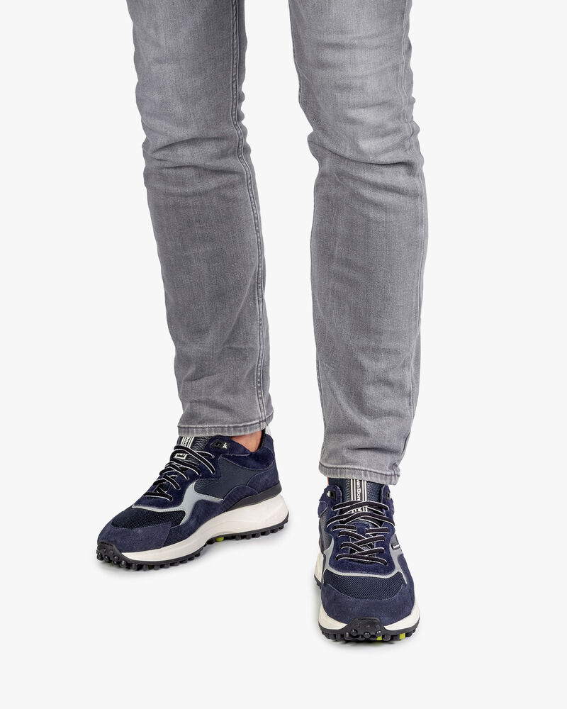 Noppi sneaker donkerblauw met print