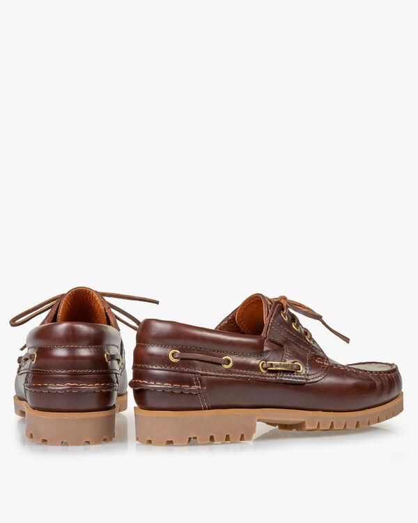 Bootschoen leer roodbruin